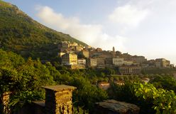 Corsica village,  Cervione Royalty Free Stock Photos