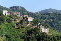 Village in corsica mountains Royalty Free Stock Images