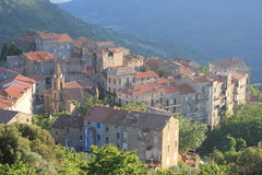 Corsica Village Sainte-Lucie-De-Tallano Stock Images