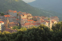 Corsica Village Sainte-Lucie-De-Tallano Royalty Free Stock Photos