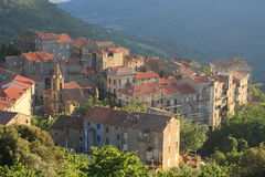 Corsica Village Sainte-Lucie-De-Tallano Royalty Free Stock Photography