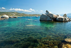 Corsica water (France) stock photography
