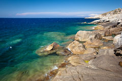 Corsica west coast calanches of Scandola Stock Photography