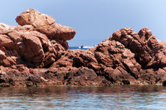 Corsica wonderful coastline landscape Stock Photos