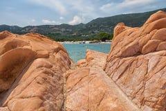 Corsica wonderful coastline landscape Royalty Free Stock Image