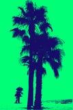 corsica wyspy śródziemnomorska palmowa fotografia brać drzewo ilustracja wektor