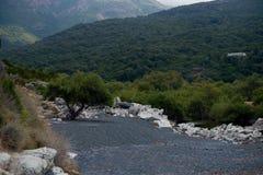 Corsica, zwart strand Royalty-vrije Stock Foto
