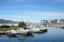 Corsicaanse haven heilige-Florent Stock Afbeeldingen