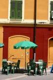 Corsicaanse huizen en gebouwen Stock Afbeelding