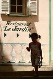 Corsicaanse huizen en gebouwen stock fotografie
