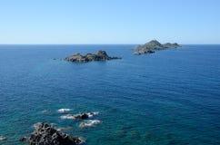 Corsicaanse kust met Bloedige Eilanden Royalty-vrije Stock Fotografie