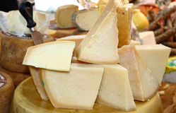 Corsican cheese. Cheese on market in corsican town Corte Stock Images