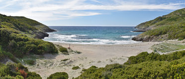 Corsican coast in the Cap Corse Stock Images