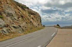 Corsican coastal road Stock Images