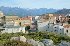 Corsican coastal town Calvi Stock Image