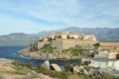 Corsican coastal town Calvi Royalty Free Stock Photo