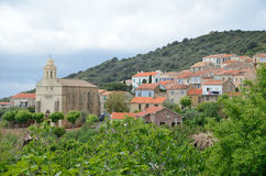 Corsican coastal village Cargese Royalty Free Stock Images