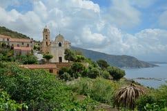 Corsican coastal village San Antonio Royalty Free Stock Photo