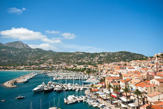 Corsican harbour Royalty Free Stock Photos