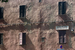 Corsican houses and buildings royalty free stock photo