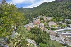 Corsican mountain village Nonza Royalty Free Stock Image