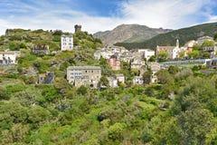 Corsican mountain village Nonza Stock Photo