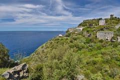 Corsican mountain village Nonza Stock Photography