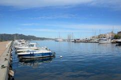 Corsican port Saint-Florent stock photography
