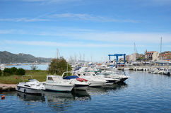 Corsican port Saint-Florent Stock Images