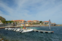 Corsican town l& x27;Iles-Rousse Stock Photos