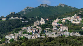 Corsican village - France Royalty Free Stock Photo