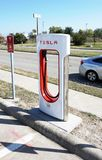 Tesla Charging Station. Stock Photography