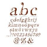 Corsivo di lettera minuscola di alfabeto del cioccolato Fotografia Stock Libera da Diritti