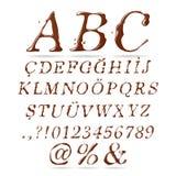Corsivo di maiuscola di alfabeto del cioccolato Immagini Stock