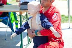 Corso del pronto soccorso Fotografia Stock