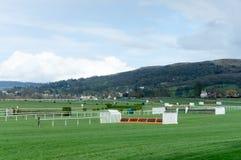 Corso di corsa di cavalli Immagine Stock