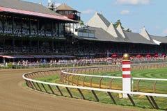 Corso di corsa storico di Saratoga Immagine Stock