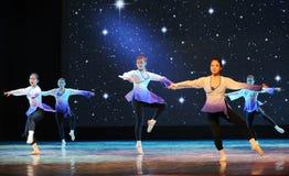 Corso di formazione addestramento-di base di ballo di danza popolare Immagini Stock