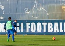 Corso di formazione del calcio di Empoli del gruppo Fotografia Stock Libera da Diritti