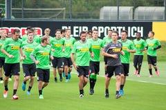 corso di formazione del club tedesco VFL Borussia Mönchengladbach di calcio Fotografia Stock Libera da Diritti