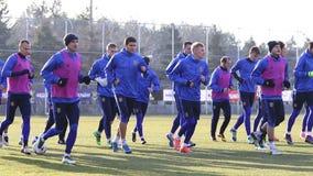 Corso di formazione della squadra di football americano del cittadino dell'Ucraina