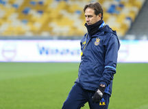 Corso di formazione della squadra di football americano nazionale dell'Ucraina a Kiev Immagine Stock