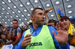 Corso di formazione della squadra di football americano nazionale dell'Ucraina in Kyiv Fotografia Stock