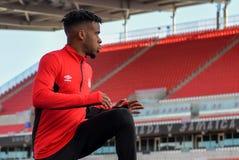 Corso di formazione della squadra nazionale del ` s degli uomini di calcio del Canada Fotografie Stock
