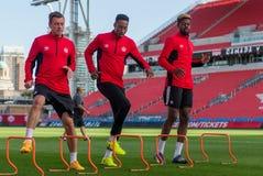 Corso di formazione della squadra nazionale del ` s degli uomini di calcio del Canada Immagini Stock Libere da Diritti