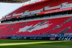 Corso di formazione della squadra nazionale del ` s degli uomini di calcio del Canada Immagine Stock