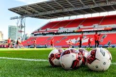 Corso di formazione della squadra nazionale del ` s degli uomini di calcio del Canada Fotografie Stock Libere da Diritti