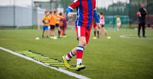 Corso di formazione di calcio Immagini Stock Libere da Diritti