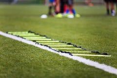 Corso di formazione di calcio Immagine Stock