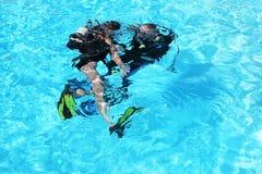 Corso di immersione subacquea Fotografia Stock